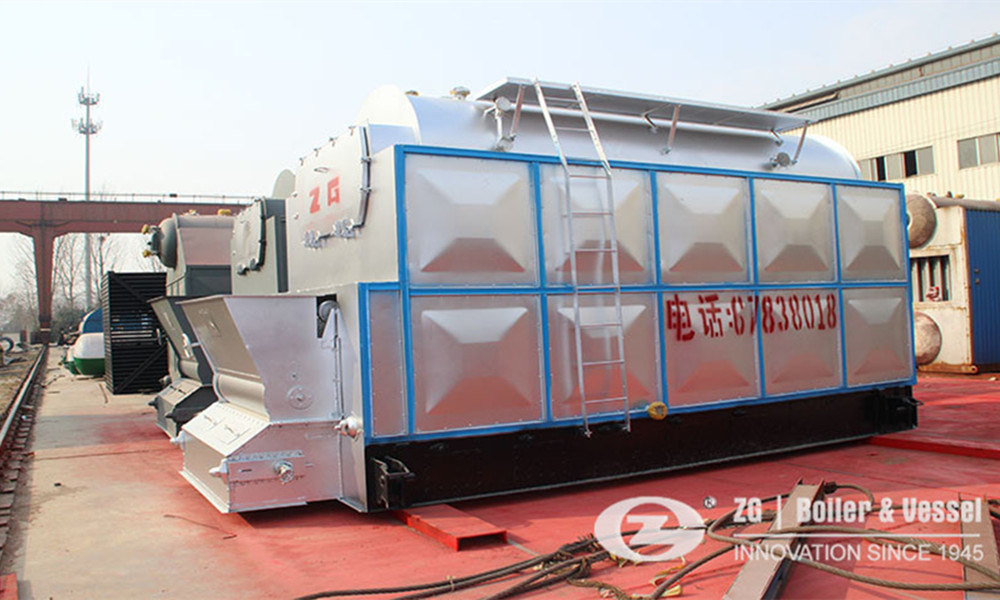 Coal fired chain grate boiler